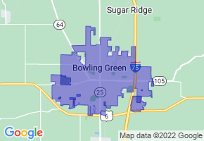 Bowling Green, Ohio Border Map - Phone Size