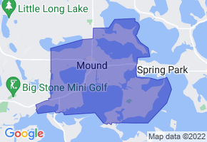 Mound, Minnesota Border Map - Phone Size