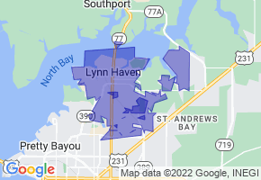 Lynn Haven, Florida Border Map - Phone Size