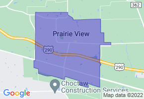 Prairie View, Texas Border Map - Phone Size