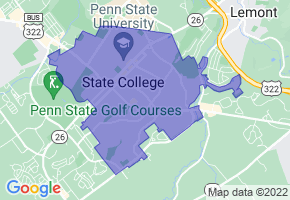 State College, Pennsylvania Border Map - Phone Size