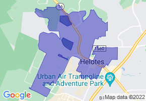 Helotes, Texas Border Map - Phone Size