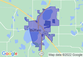 Buffalo, Minnesota Border Map - Phone Size