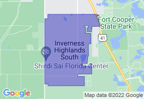 Inverness Highlands South, Florida Border Map - Phone Size