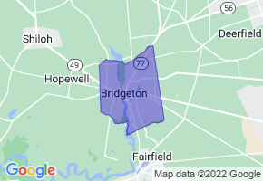 Bridgeton, New Jersey Border Map - Phone Size
