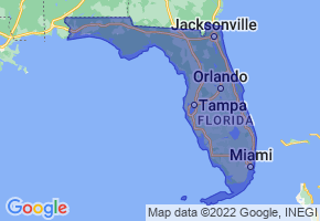 Florida Border Map - Phone Size
