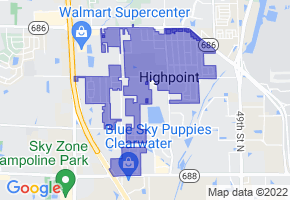 South Highpoint, Florida Border Map - Phone Size