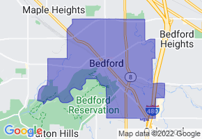 Bedford, Ohio Border Map - Phone Size