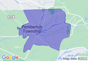 Browns Mills, New Jersey Border Map - Phone Size