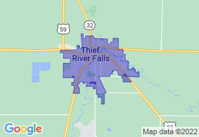 Thief River Falls, Minnesota Border Map - Phone Size