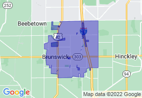 Brunswick, Ohio Border Map - Phone Size