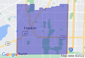 Franklin, Wisconsin Border Map - Phone Size
