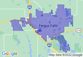 Fergus Falls, Minnesota Border Map - Phone Size
