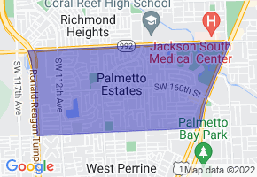Palmetto Estates, Florida Border Map - Phone Size