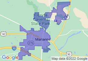 Marianna, Florida Border Map - Phone Size