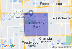 University Park, Florida Border Map - Phone Size
