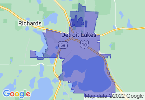 Detroit Lakes, Minnesota Border Map - Phone Size