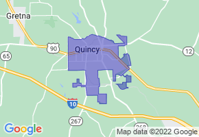 Quincy, Florida Border Map - Phone Size
