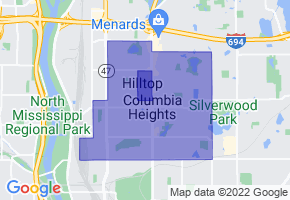 Columbia Heights, Minnesota Border Map - Phone Size