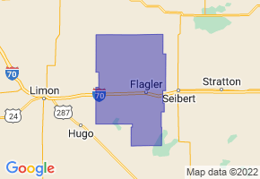 Arriba-Flagler School District C-20, Colorado Border Map - Phone Size