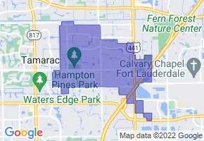 North Lauderdale, Florida Border Map - Phone Size