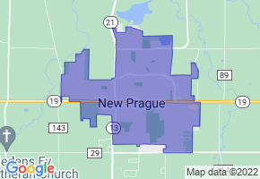 New Prague, Minnesota Border Map - Phone Size