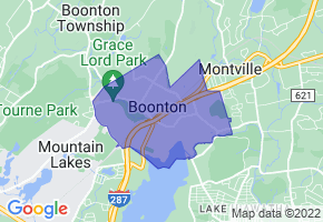 Boonton, New Jersey Border Map - Phone Size