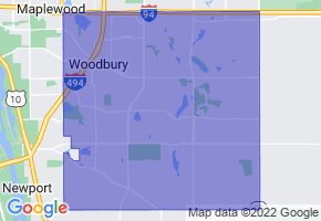Woodbury, Minnesota Border Map - Phone Size