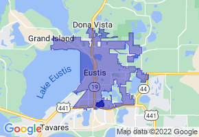 Eustis, Florida Border Map - Phone Size