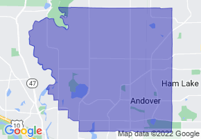 Andover, Minnesota Border Map - Phone Size