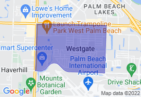 Westgate, Florida Border Map - Phone Size