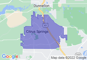 Citrus Springs, Florida Border Map - Phone Size
