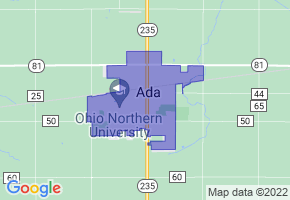 Ada, Ohio Border Map - Phone Size