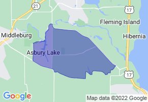 Asbury Lake, Florida Border Map - Phone Size