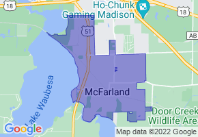 McFarland, Wisconsin Border Map - Phone Size