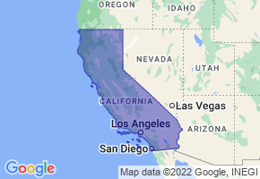 California Border Map - Phone Size