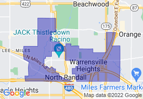 Warrensville Heights, Ohio Border Map - Phone Size