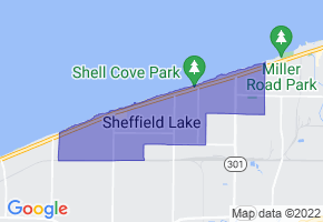Sheffield Lake, Ohio Border Map - Phone Size