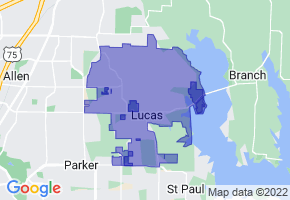 Lucas, Texas Border Map - Phone Size