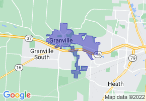 Granville, Ohio Border Map - Phone Size