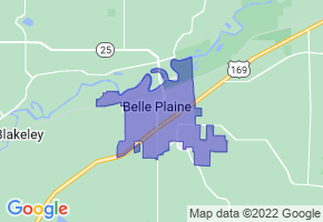 Belle Plaine, Minnesota Border Map - Phone Size