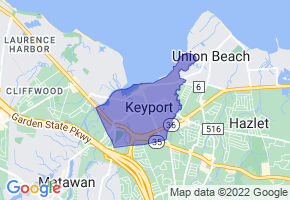 Keyport, New Jersey Border Map - Phone Size