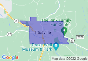 Titusville, Pennsylvania Border Map - Phone Size
