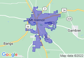 Mount Vernon, Ohio Border Map - Phone Size