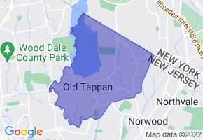 Old Tappan, New Jersey Border Map - Phone Size
