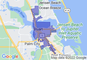 Stuart, Florida Border Map - Phone Size