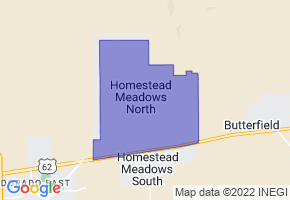 Homestead Meadows North, Texas Border Map - Phone Size
