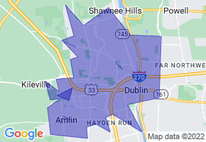 Dublin, Ohio Border Map - Phone Size