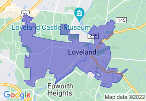 Loveland, Ohio Border Map - Phone Size