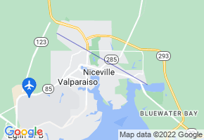 Niceville, Florida Border Map - Phone Size